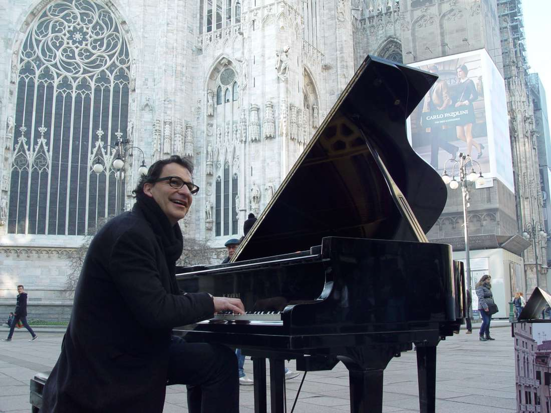 Outside the Cathedral, a busker who somehow transports a grand piano and sets up on the pavement